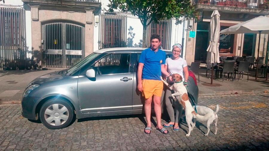 Parking Sarria Santiago agosto 02